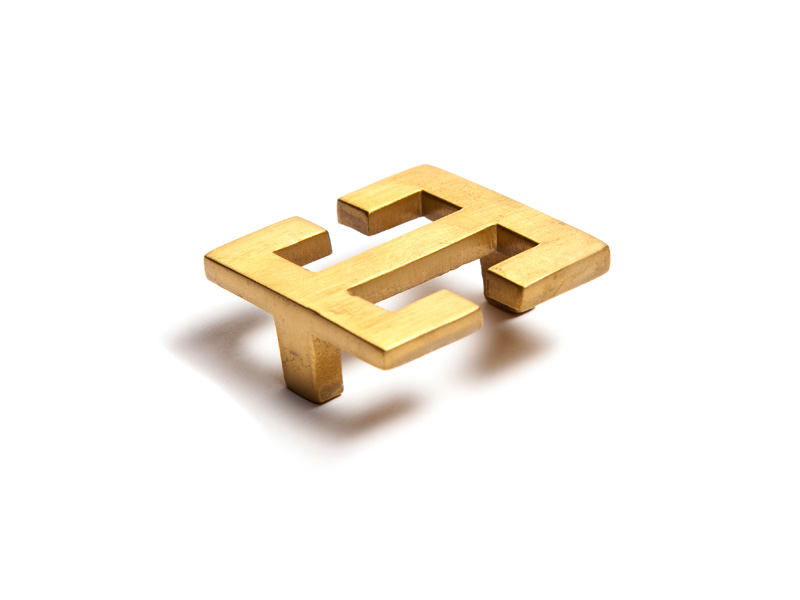 Square oriental style pull alexander marchant for Asian furniture hardware drawer pulls