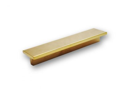 T-Shaped Flat Bar Pull in Polished Unlacquered Brass