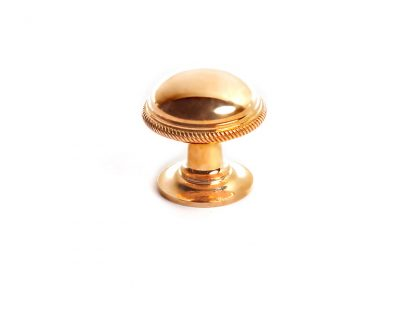 Traditional Knurled Knob with Plain Rose