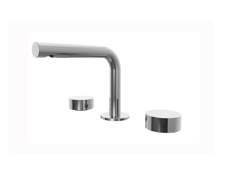 showroom with faucet venezia large texture hole metal miami vallve sprout waterbox hexagonal fantini lavatory three faucets handle base mixer washbasin