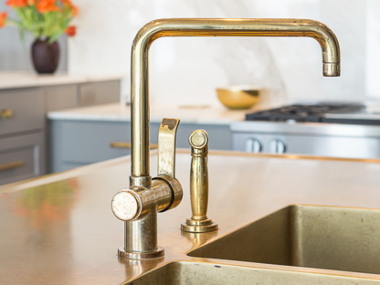 French Transitional Kitchen Faucet and Side Spray