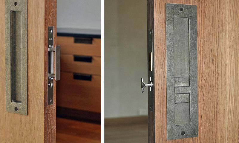 Sun Valley Bronze Custom Pocket Door Hardware Alexander