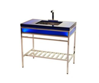 EBB Concept Cast Resin Console with EBB Basin