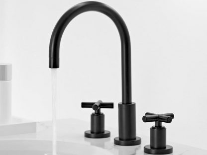 Dornbracht Tara Three Hole Lavatory Mixer in Matte Black
