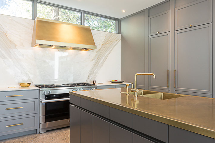 Elm Street, Brass Kitchen, Transitional Design