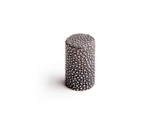 Turnstyle Designs Shagreen Cylinder Knob, leather knob, Turnstyle Designs