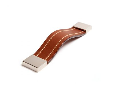 Square Stitched Leather Strap Pull