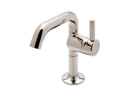 Waterworks .25 One Hole High Profile Bar Faucet - Short Metal Handle