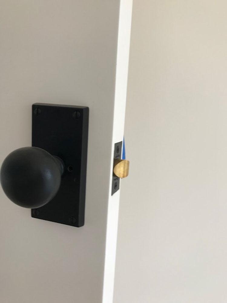 Matte Black Bronze Door Hardware, ashley norton, pilgrim builders, door hardware