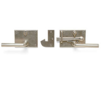 Sun Valley Bronze Gate Latch Privacy Set, door lever, made in USA