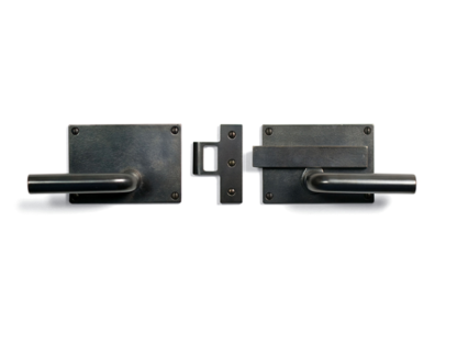 Sun Valley Bronze Slide Bar Latch Privacy Set, door lever, made in USA