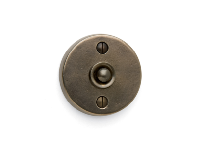 Sun Valley Bronze Round Contemporary Door Bell, door accessories, made in USA