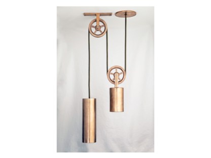 Sun Valley Bronze Pendant Pulley Light, ceiling light, made in USA