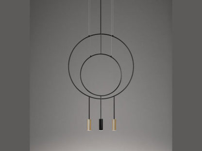 Estiluz Revolta Multi-Light Suspension Pendant, Mixed Metal