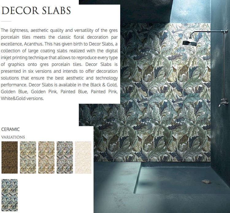 Devon&Devon, Decor Slabs, the complete bathroom, Italian bathroom brand