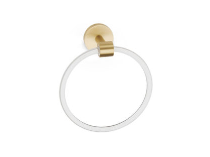 Acrylic Contemporary Towel Ring, Alno Acrylic Contemporary Towel Ring, Brass Bath Accessories, Acrylic Bath Accessories