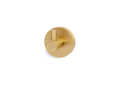 Contemporary Single Post Robe Hook, Alno Bath Accessories, Brass Bath Accessories, Brass Towel Hook