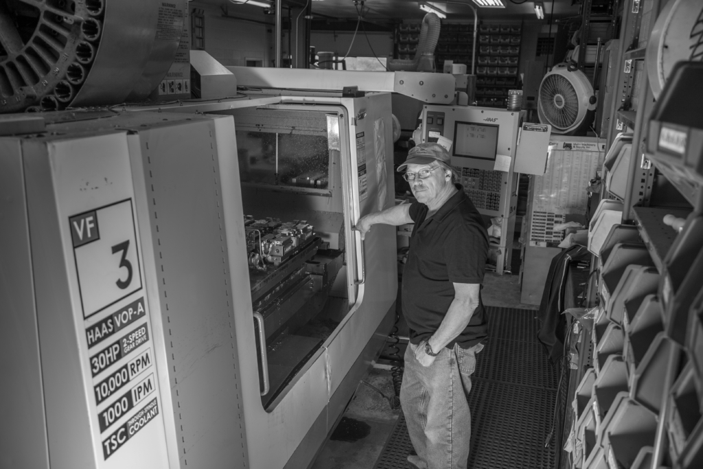 Sun Valley Bronze founder and owner Robert Commons in the Idaho-based company's machine shop.